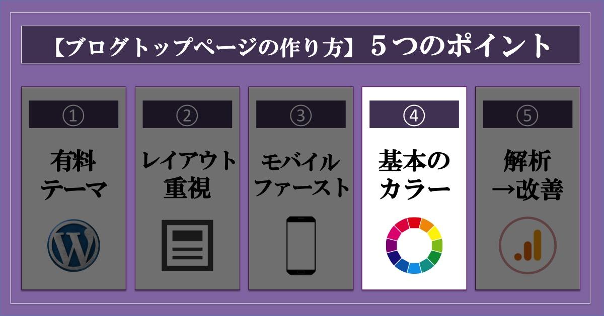ブログトップページの作り方_5つのポイント_基本の色を決める