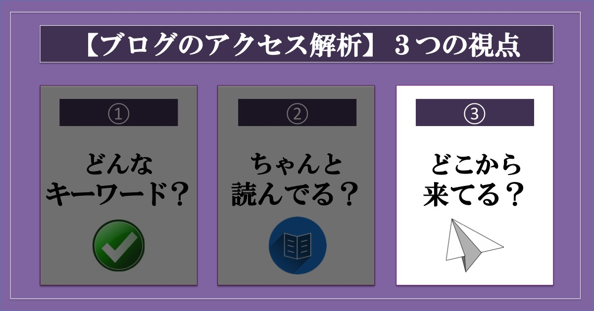 【ブログのアクセス解析】大事な3つの視点とその方法_ユーザーはどこから訪れてくれている?