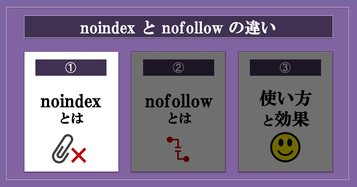 noindexとnofollowの違い_noindexとは