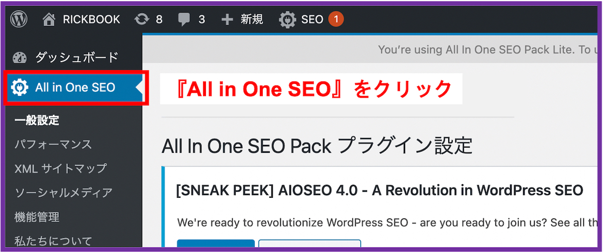 All in One SEO Pack_基本設定1