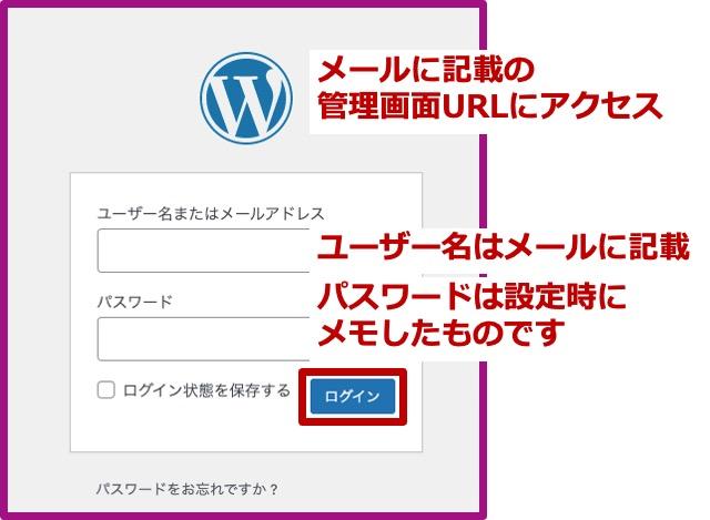 WordPressログイン